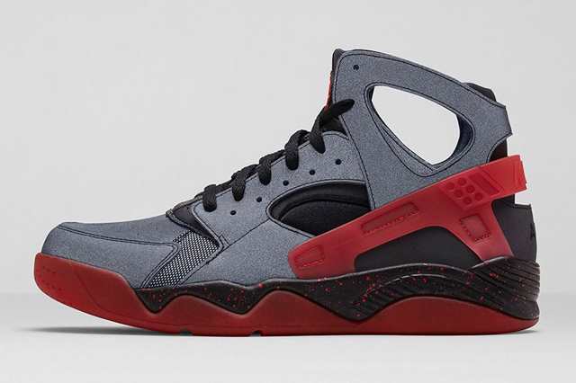 Wholesale NIKE AIR HUARACHE FLIGHT BLACK CHALLENGE RED