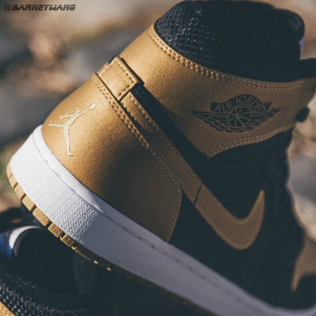 Wholesale Air Jordan 1 Black Gold / Carmelo Anthony PE