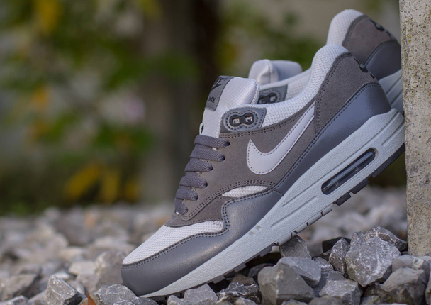 Wholesale Cheap  Nike Air Max 1 Essential Wolf GreyDark Grey