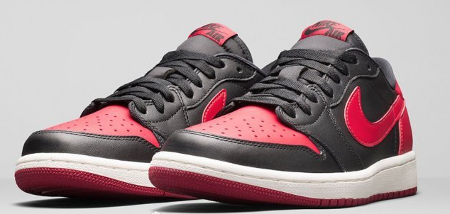 ir Jordan 1 Retro Low OG Bred