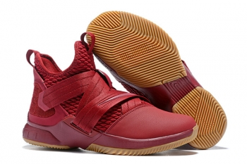 Nike LeBron Soldier XII iD Wine Red