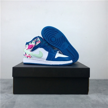 Air Jordan 1 Mid Blue Pink