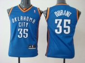 Wholesale Cheap Kids NBA Oklahoma City Kevin Durant #35 Jerseys Blue
