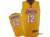 Wholesale Cheap Kids NBA Los Angeles Lakers Howard #12 Jerseys Yellow
