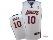 Wholesale Cheap Kids NBA Los Angeles Lakers Nash #10 Jerseys White