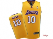 Wholesale Cheap Kids NBA Los Angeles Lakers Nash #10 Jerseys Yellow