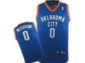 Wholesale Cheap Kids NBA Oklahoma City Thunder Westbrook #0 Jerseys Blue