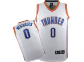 Wholesale Cheap Kids NBA Oklahoma City Thunder Westbrook #0 Jerseys White