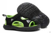 Wholesale Cheap Adidas Sandals Kids Black Green