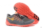 Wholesale Nike Free 5-0 Women 2014 World Cup Dark Grey Orange Yellow-F003