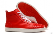 Women Christian Louboutin High Rivet Red 210