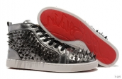 Women Christian Louboutin High Rivet Silvery 280