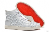 Women Christian Louboutin High Rivet White 280