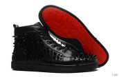 Women Christian Louboutin High Rivet Black 280