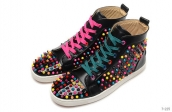 Women Christian Louboutin High Rivet Black Colorful 280