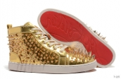 Women Christian Louboutin High Rivet Golden 280