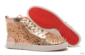 Women Christian Louboutin High Rivet Platinum 280
