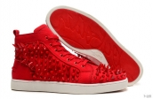 Women Christian Louboutin High Rivet Red 280