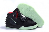 Air Yeezy II Women Glow Black Red