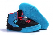 Air Yeezy II Women South Beach Black Blue