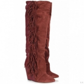 Isabel Marant Boots Tassels Wine Red