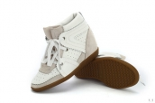 Isabel Marant Shoes Suede Leather White