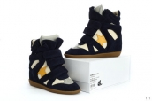 Isabel Marant Shoes Star Navy Blue Yellow White