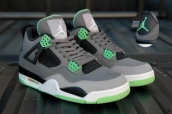 Super Perfect Air Jordan 4 Retro Green Glow