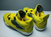 Super Perfect Air Jordan 4 Lightning Yellow Black 1000