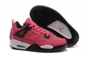 Air Jordan 4 Women Pink Black