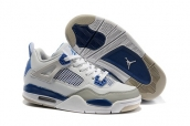 Air Jordan 4 Women White Blue