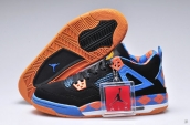Air Jordan 4 Women Black Blue Orange PE