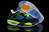 Air Jordan 4 Women Black Green Blue