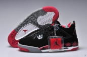 Air Jordan 4 Women Black Red PE