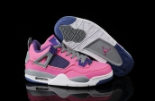 Air Jordan 4 Women Pink Purple Grey White