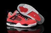 Air Jordan 4 Women Red Black White