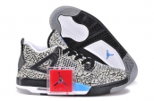 Women Air Jordan 4 Elephant Print Grey Black Blue