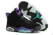 Air Jordan 6 Women Black Purple