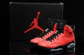 Air Jordan 6 Women Infrared 23 Red Black