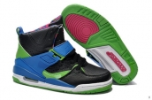 Air Jordan Flight 45 Women High Black Blue Green Pink