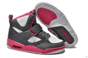 Air Jordan Flight 45 Women High Darkgray White Pink