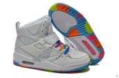 Air Jordan Flight 45 Women High White Colorful