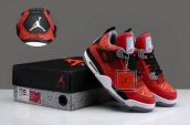 Perfect Air Jordan 4 Women Got Em Laser Red Black White