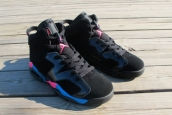 Air Jordan 6 Perfect Retro Women Black Blue Pink