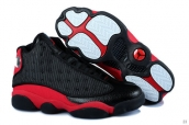 Perfect Women Air Jordan 13 Black Red