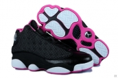 Perfect Women Air Jordan 13 Black Rose Red White