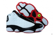Perfect Women Air Jordan 13 White Black Red