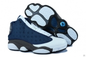 Perfect Women Air Jordan 13 White Blue