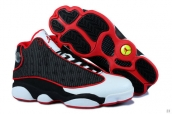 Perfect Women Air Jordan 13 White Red Black
