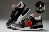 AAA Air Jordan 3 Women Leather Black